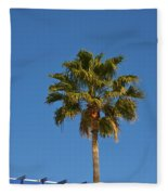 Lonely Palm Fleece Blanket