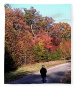 Lonely Road Home Fleece Blanket