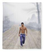 Lonely Road Fleece Blanket