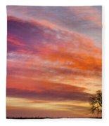 Lonesome Tree Sunrise Fleece Blanket