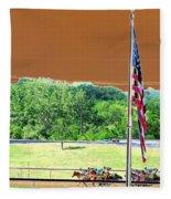 Lonestar Park - Backstretch - Photopower 2204 Fleece Blanket