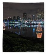 Long Beach Lights Fleece Blanket