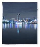 Long Beach Skyline Fleece Blanket