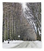Long Country Road Fleece Blanket