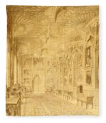 Long Gallery At Strawberry Hill Fleece Blanket
