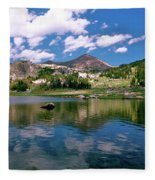Long Lake Beartooth Pass Fleece Blanket