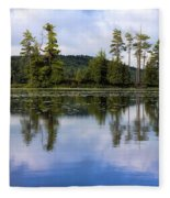 Long Lake Reflection Fleece Blanket