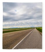 Road To The Sky In Saskatchewan. Fleece Blanket