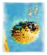 Long-spine Fish Fleece Blanket