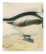 Long Tailed Duck Fleece Blanket
