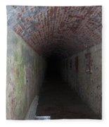long tunnel in Ft Adams Fleece Blanket