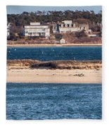 long view of Brant point lighthouse Fleece Blanket