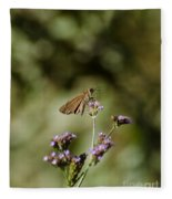 Long-winged Skipper Butterfly Fleece Blanket