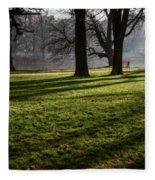 Long Winter Shadows Fleece Blanket