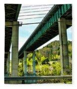 Longest Bridges In Vermont Fleece Blanket