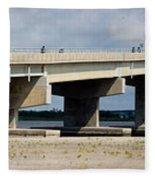 Longport Bridge Fleece Blanket