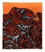 Longs Peak - Colorado Fleece Blanket