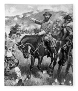 Longstreet At Gettysburg Fleece Blanket