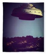 Look... It's A Flying Saucer Fleece Blanket