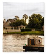 Looking At The Boardwalk Gazebo Walt Disney World Fleece Blanket