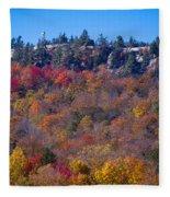 Looking At The Top Of Bald Mountain Fleece Blanket