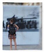 Looking Back In Time - Lisbon Fleece Blanket