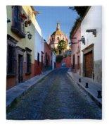 Looking Down Aldama Street, Mexico Fleece Blanket