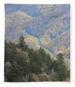 Looking Down On Autumn From The Top Of Smoky Mountains Fleece Blanket
