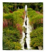 Looking Down Reflection Canal Fleece Blanket