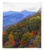 Looking Glass Rock And Fall Colors Fleece Blanket