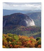 Looking Glass Rock And Fall Folage Fleece Blanket