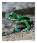 Looking Green Fleece Blanket