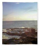 Looking Out Over The Ocean Fleece Blanket