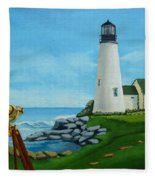 Looking Out To Sea Fleece Blanket