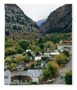 Looking Over Ouray From The Sutton Mine Trail Circa 1955 Fleece Blanket