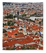 Looking Over Prague Fleece Blanket