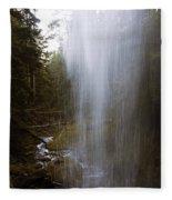 Looking Through Angel Falls Fleece Blanket