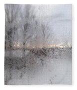 Looking Through The Frost IIi Fleece Blanket