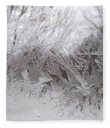 Looking Through The Frost Iv Fleece Blanket