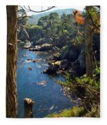 Looking Through The Trees At Point Lobos Fleece Blanket