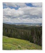 Looking To The Canyon - Yellowstone Fleece Blanket