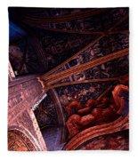 Looking Up Albi Cathedral Fleece Blanket