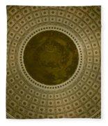 Looking Up Capitol Dome Fleece Blanket