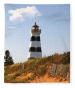 Looking Up From The Dunes At West Point Light Fleece Blanket