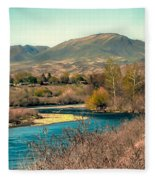 Looking Up The Payette River Fleece Blanket