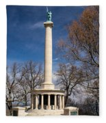 Lookout Mountain Peace Monument 4 Fleece Blanket