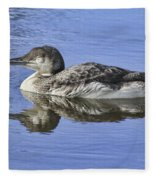 Loon On Vacation Fleece Blanket