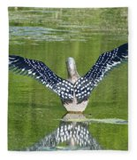 Loon Wings Fleece Blanket