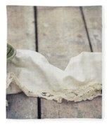 Loosely Draped Fleece Blanket