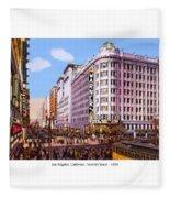 Los Angeles California - Seventh Street - 1938 Fleece Blanket